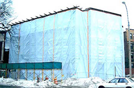 стационарна тента/сенник за сгради Бургас